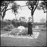 Sarah Chinnery in her garden, Malaguna Road, Rabaul, New Guinea, ca. 1936, 2