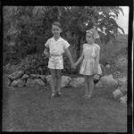 Lee family children in the garden, Fiji