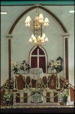 Inside view of Avarua church, Rarotonga