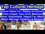 Various Topics 1-4: Coconuts, Betel nuts, Tuba, Events, Dining, Pathways and Life Cycles, Yap