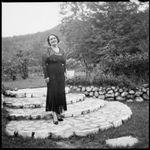 Sarah Chinnery in her garden, Malaguna Road, Rabaul, New Guinea, ca. 1936, 1