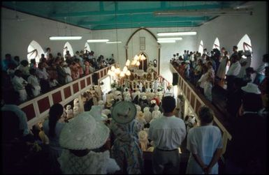 Congregation inside Avarua church, Rarotonga